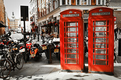 """Phone boxes, Covent Garden • <a style=""""font-size:0.8em;"""" href=""""http://www.flickr.com/photos/54083256@N04/9659127216/"""" target=""""_blank"""">View on Flickr</a>"""