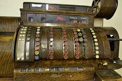 Vintage National Cash Register (Custom_Cab) Tags: pictures auto trip las vegas usa money car museum hotel us united nevada picture quad palace casino resort cash corporation collection nv company national collections till imperial wife register states harrahs ncr the