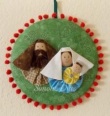 Christmas (Simone Dias Artes) Tags: christmas natal artesanato craft fuxico handcraft presépio sagradafamília simonedias presépiodefuxicos