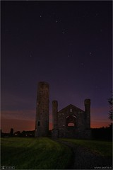 The Plough over Taghadoe (bbusschots) Tags: lightpainting tower history church night ruin astrophotography constellation ptlens localhistory historicbuilding photomatix tonemapped exposureblended topazadjust taghadoeroundtower
