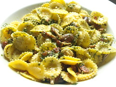 Puglia Egg Pasta, Green Pesto (Tony Worrall Foto) Tags: food green menu yummy nice dish cook shell tasty plate eaten pasta made eat foodporn anchovies taste dishes cooked tasted pesto grub topping iatethis foodie flavour plated foodpictures ingrediants picturesoffood 2013tonyworrall foodophile