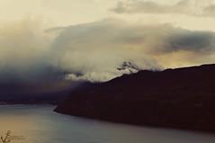 Swallowed (Clemence Pacault.) Tags: cloud mountain lake france mountains rain clouds landscape cloudy rainy savoie tamron lacdubourget aixlesbains 1750mm