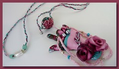 I Luv Pink Roses (SomewhatOdd) Tags: flowers original art beautiful sign cane silver hearts cord gold beads colorful hand heart bright symbol handmade mixedmedia unique brooch jewelry kaleidoscope pearls fimo clay gift bracelet deaf sculpey iloveyou earrings cheerful signlanguage pendant pardo glassbeads asl americansignlanguage hearingimpaired premo handsign wirewrapped polyclay swarovskicrystals mokumegane micashift cabochons oneofkind deafcommunity originaldesigns kaleidoscopecane magneticclasp filigreebeads coloredwire jewelry polymerclaynecklace handbraidedcord veldenaladson asl