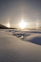 Northern Sundog (Lyndsay Esson) Tags: winter sun snow cold sparkle sundog northernbc atlin monarchbeach d5000 lyndsayesson