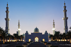 Sheikh Zayed Grand Mosque (pvanschalkwyk1) Tags: travel architecture 35mm canon islam religion uae culture sigma mosque abudhabi arab arabia 5d bluehour fullframe depth moslem