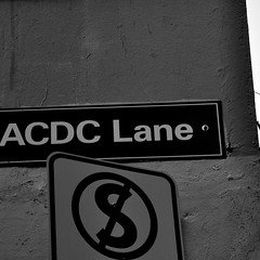 No Stopping Them (Smith-Bob) Tags: street rock acdc icons anniversary n melbourne lane legends years rocknroll heavy hardrock acdclane in whiteblack metalno youngmalcolm scottbrian parkingsignblack whitebwback blackangusangus youngbon johnsontribute40