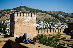 / granada / (aubreyrose) Tags: travel spain europe nap view andalucia alhambra granada naptime viewfromthetop cityview