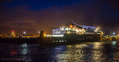 Clansman (md93) Tags: christmas decorations lighthouse ferry night reflections lights clyde harbour calmac ardrossan clansman