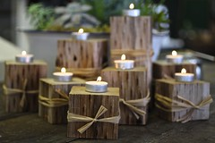 Beautiful wintry holiday center pieces.