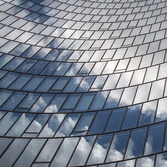 simple components ... (ewaldmario) Tags: blue sky white abstract reflection building glass architecture modern clouds skyscraper office nikon officebuilding architektur nikkor spiegelung glas abstrakt hochhaus omv d800 282470 ewaldmario ewaldmariocom