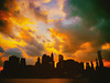 New York City Skyline at Sunset on a Stormy Evening (Vivienne Gucwa) Tags: nyc newyorkcity sunset sky newyork skyline clouds cityscape nycskyline urbanphotography newyorkcityskyline nycphoto nycsunset newyorksunset fierysunset cityphotography newyorkphoto newyorkcityphotography viviennegucwa viviennegucwaphotography