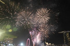 Night shots around the bay (aitch tee) Tags: horse singapore nightshot fireworks year chinesenewyear 2014 marinabay singaporenights