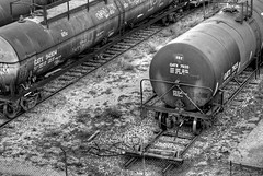 More tankers (Webfoot5) Tags: railroad bw trains tankers