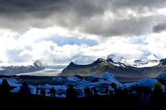 Vatnajokull, Iceland (TheNonResidentDesi) Tags: snow storm mountains nature landscapes iceland awesome glacier contrasts icebergs vatnajokull fireandice