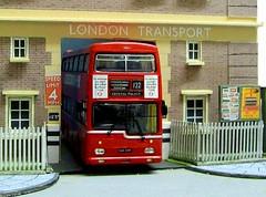 Old Plumstead LT garage (kingsway john) Tags: md metropolitam am plumstead london transport bus garage model 176 scale kingsway models diorama londontransportmodel oo gauge miniature
