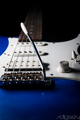 140227 - 52 Project - Lonely Guitar - 8.jpg (/digsey) Tags: blue white electric guitar strings 52 52project 52weeksofphotography