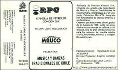 Primer cassete grabado por el Grupo Folclórico Maucó de la Refinería de Petróleo de Concón S.A. en 1986