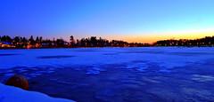 Tiiliruukinlahti (timo_w2s) Tags: winter sunset sea snow ice finland evening frozen helsinki hdr laajasalo tammisalo tiiliruukinlahti