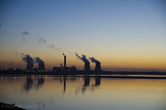 Fiddlers Ferry (Stephen Whittaker) Tags: morning blue urban sun landscape early view hour rise