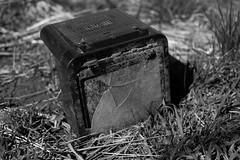 Broken portable television (C Pham Photo) Tags: blackandwhite bw 35mm fuji fujifilm frederick xseries xt1 fujix vsco fujifilmx xf35mmf14 fujifilmxt1 fujixt1 vscofilm05
