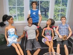 (Mattel) Farrell's Get Together (mydollfamily) Tags: four nikki ryan ken fashionista fashiondoll mattel texasamuniversity divergent aaken lifeinthedreamhouse