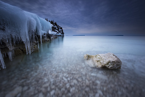 Calm as Ice (andrewpmorse) Tags: brucepeninsula brucepeninsulanationalpark nationalparks ontario canada lake lakehuron ice water winter cold longexposure marine rocks cliffs canon canon1635f4l lee06ndgrad leebigstopper parks