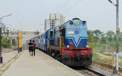 Tondiarpet WDM-2 with Mannargudi Express