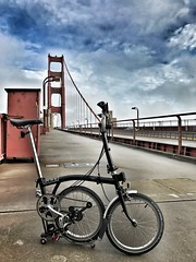 Brommie rambling in SF (Be Steel) Tags: brompton foldingbike m6l goldengatebridge sanfrancisco california