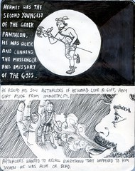 The Lives of Pythagoras 1 (Chris Murtagh) Tags: pythagoras art biography ancientgreece history comic linedrawing pen philosophy penandink pythagorean hermes aethalides soul alive or dead hermeswasthesecondyoungestofthegreekpantheon hewasquickandcunning