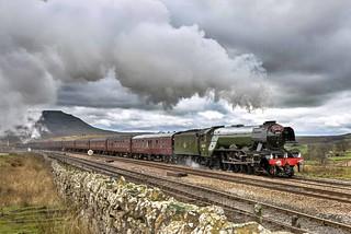60103 approaches Blea Moor on 31 Mar 17