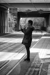 Bilston Metro Station (Jemma Graham) Tags: documentary documentarygroup metro midlandmetroproject rps street portrait people blackandwhite xt2 fujifilm fujifilmxt2