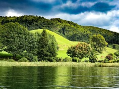 The Green Lake (krish2989) Tags: landscape picture iphone travel colour color bliss calm trees tree clouds mountain grass sky water nature rotorua newzealand green lake