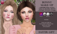 Bunny Make-Up (Easter Gift) (Izzie Button (Izzie's)) Tags: gift izzies appliers catwa sl lelutka logo bunny easter