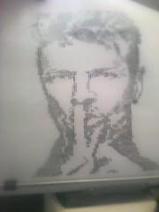 David Bowie (elartistadelamaquinadeescribir) Tags: mecanografia puntodecruz maquinadeescribir david bowie