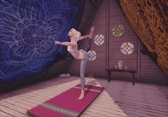 Yoga Time! (Alicia Chenaux - Ch'Know Blogs) Tags: secondlife secondlifebloggers secondliferoleplay morningroutine yoga virtualworld