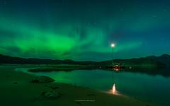 quietly green (ciwi8) Tags: greenland grönland southgreenland südgrönland fjord beach water night stars light ship boat yacht sailing peter1 green aurora auroraborealis polarlicht nordlicht amazing