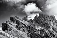 You better avoid the highest Peaks... (Ody on the mount) Tags: anlässe berge dolomiten em5 fermeda fototour gipfel himmel italien mzuiko40150 omd odles olympus seceda südtirol urlaub wolken bw monochrome sw