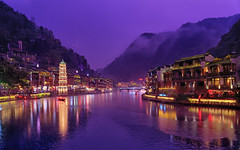 Fenghuang County in thunderstorm (3dgor 加農炮) Tags: thunder thunderstorm hunan china fenghaungcounty landscape