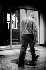 (daveson47) Tags: candid mono monochrome bw blackandwhite people minneapolis street streetphoto streetphotography blur blurry ricoh ricohgrd grd