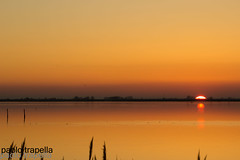 sunset (paolotrapella) Tags: sunset tramonti valle sacca mare water acqua sole