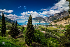 More than a lake (MF-otografie) Tags: gardasee lagodigarda hdr tree nature landscape view lake italy italia outdoor clouds city rock mountain torbole