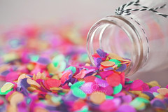 Happy 10 years (Serena178) Tags: happy10years 10years macro macromonday celebration confetti party colours colourful bottle messy closeup canon canon5d photography photographer explore pastel celebrate group flickrgroup flickr