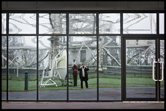 7th of January 2017 (Paul of Congleton) Tags: january 2017 jodrellbank radio telescope lowerwithington cheshire england uk reflection windows me self stephanie steph digital sony rx100