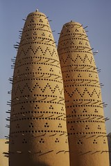 MAT.8 (mariatarasoff) Tags: brown sand qatar doha katara cultural culture centre macro closeup wood sticks rustic birds patterns patterning geometric sky blue holes mud adobe traditional tradition sun sunlight column arch middle east eastern arcitecture arab arabia arabic gcc gulf museum islamic art contemporary modern water building iconic entry entrance cityscape view framing fountain skyline west bay corniche arabian sunset