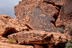 Petroglyph panel (300 B.C.E. to 1150 C.E. ), Atlatl Rock loop trail, Valley of Fire State Park, Nevada (www.clineriverphotography.com) Tags: usa atlatlrock rockart petroglyph nevada location 2016 2016nevada valleyoffirestatepark