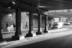 Amsterdam - Under the bridge (Tobias Dander) Tags: tobiasdander amsterdam westerdokskade under bridge bnw blackandwhite black white schwarz weiss shadow light