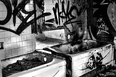 (C.dallaire Photography) Tags: blackandwhite asylum abandoned broken destroyed vandalism mental hospital ill illness creepy creep old