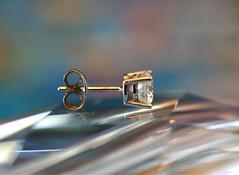 diamond for the 10 year party! (annacajem) Tags: diamond party macro monday spectra earring macromonday macromondays happy 10 years happy10years