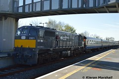 081 at Ballinasloe, 8/4/17 (hurricanemk1c) Tags: rpsi marbletribesman 1335galwaykilkenny railways railway train trains irish rail irishrail iarnród éireann iarnródéireann 2017 generalmotors gm emd 071 ballinasloe 081