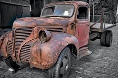 Toronto - The Distillery District (alex_shim) Tags: truck car old toronto distillery district blackandwhite bw cars trucks